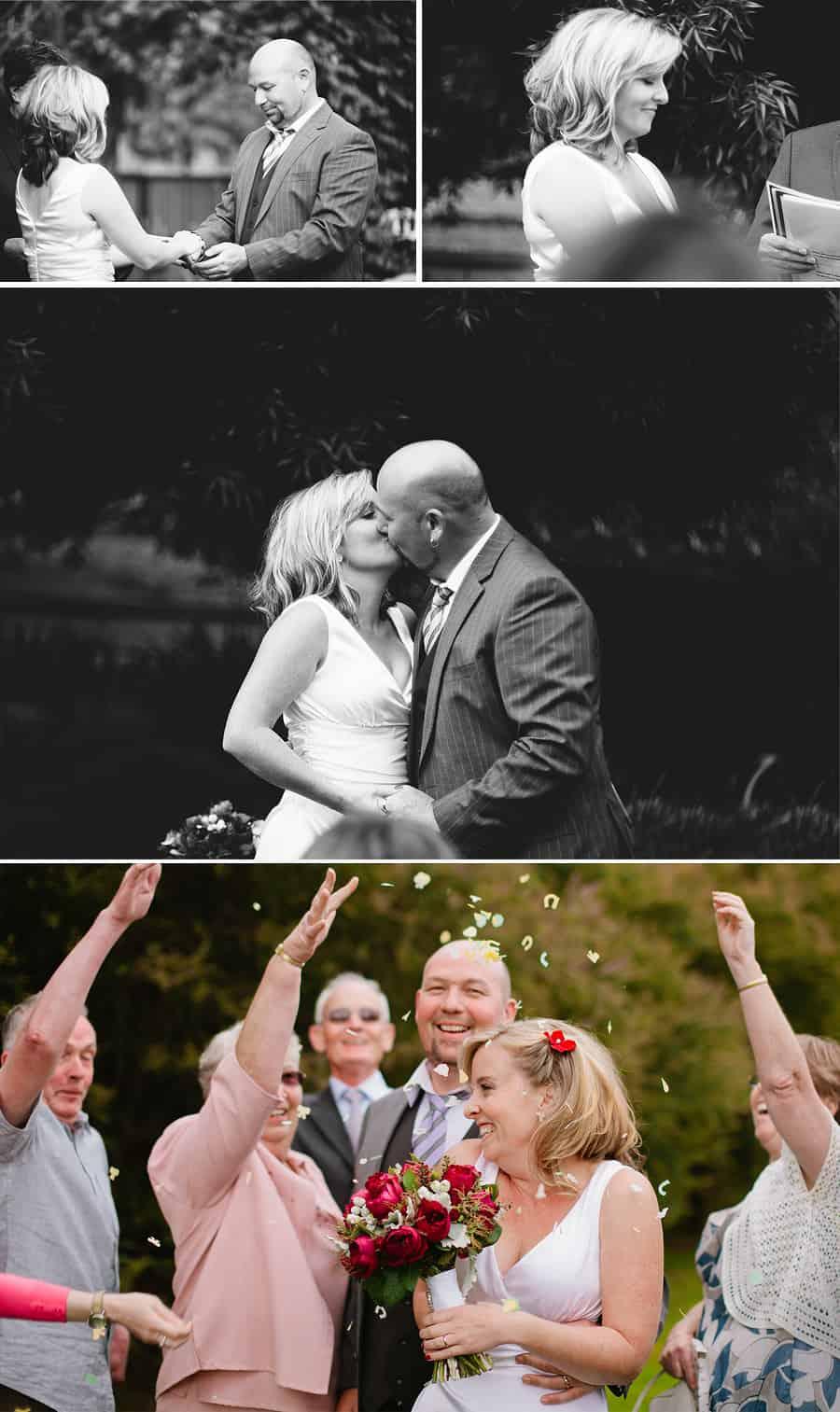 Haley & Rus Wedding - First Kiss