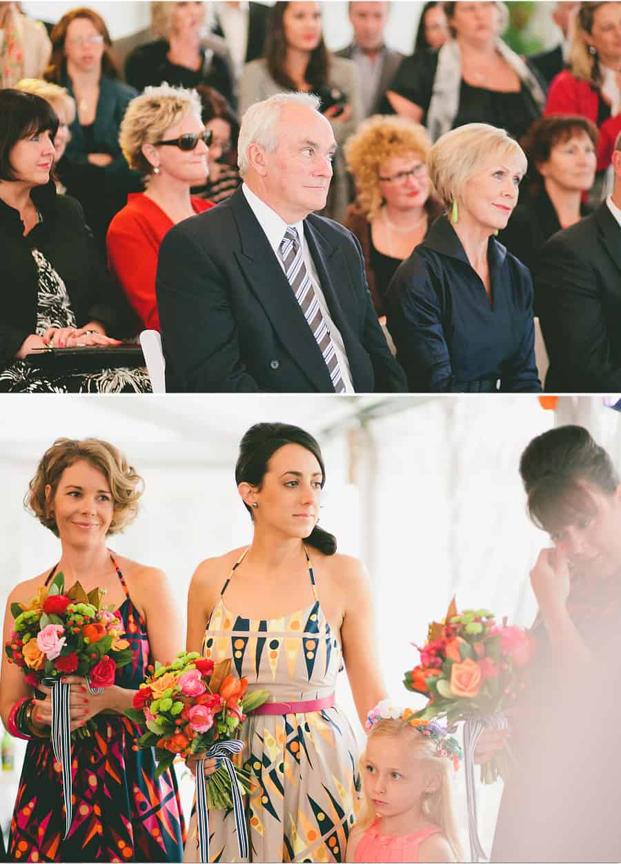 Ceremony - On lookers and Bridesmaids