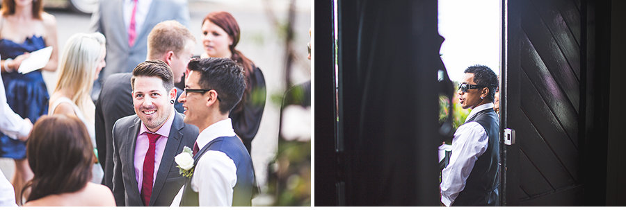James & Lauren - Ceremony, Broadway Chapel - Wedding Guests 1