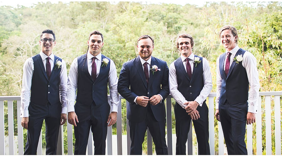 Getting Ready - James and Groomsmen