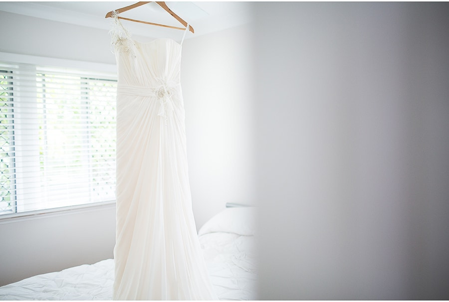 Lauren's wedding dress - Brisbane Home