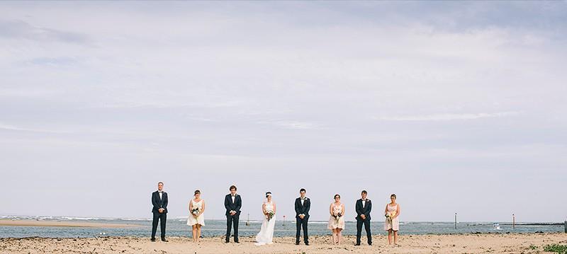 Emma & Liams Bridal Group - Barwon Heads Beach