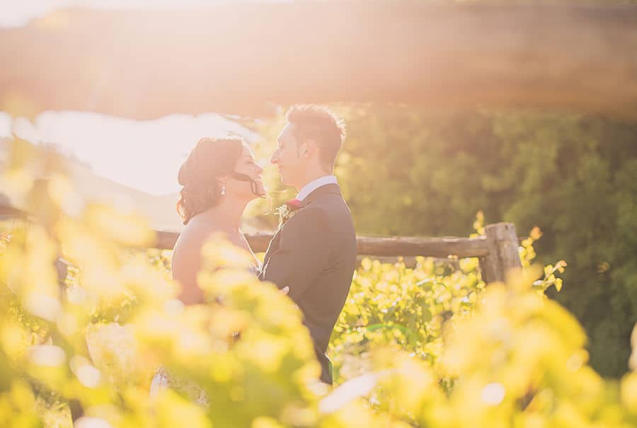 Golden hour Daylesford Wedding Photography at Captains Creek Winery