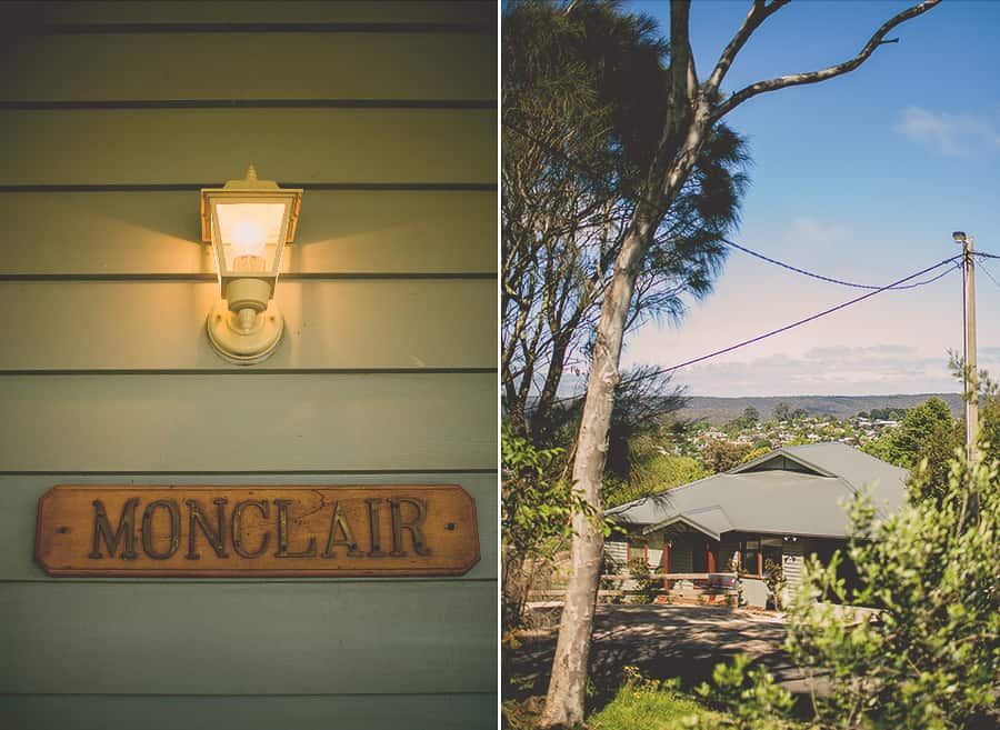 Wedding Accommodation overlooking the country town of Daylesford, Victoria