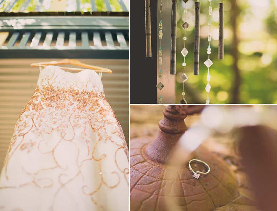Cream and Copper Wedding Dress