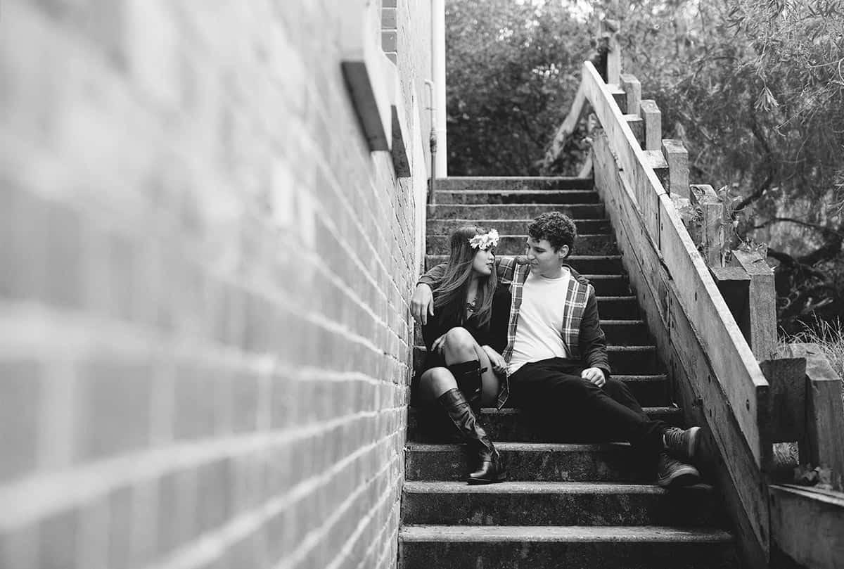 Beautiful Engagement Photography - University of Ballarat