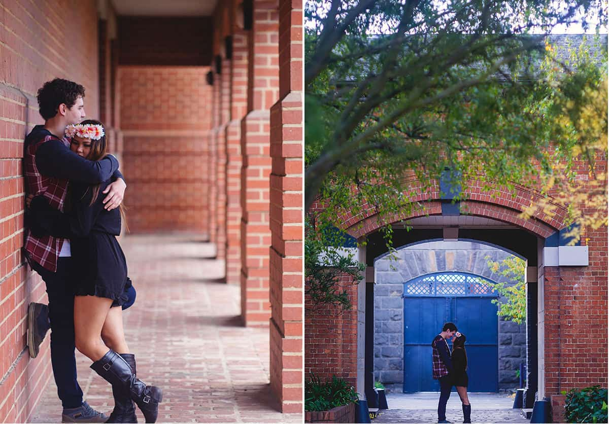 Engagement shoot at Federation University, Ballarat