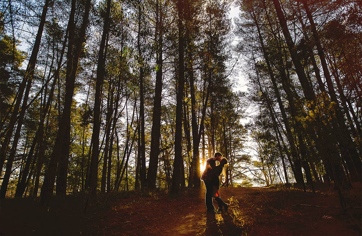 Ballarat Wedding Photography - Autumn Engagement Shoot at Black Hill Lookout, Ballarat Victoria