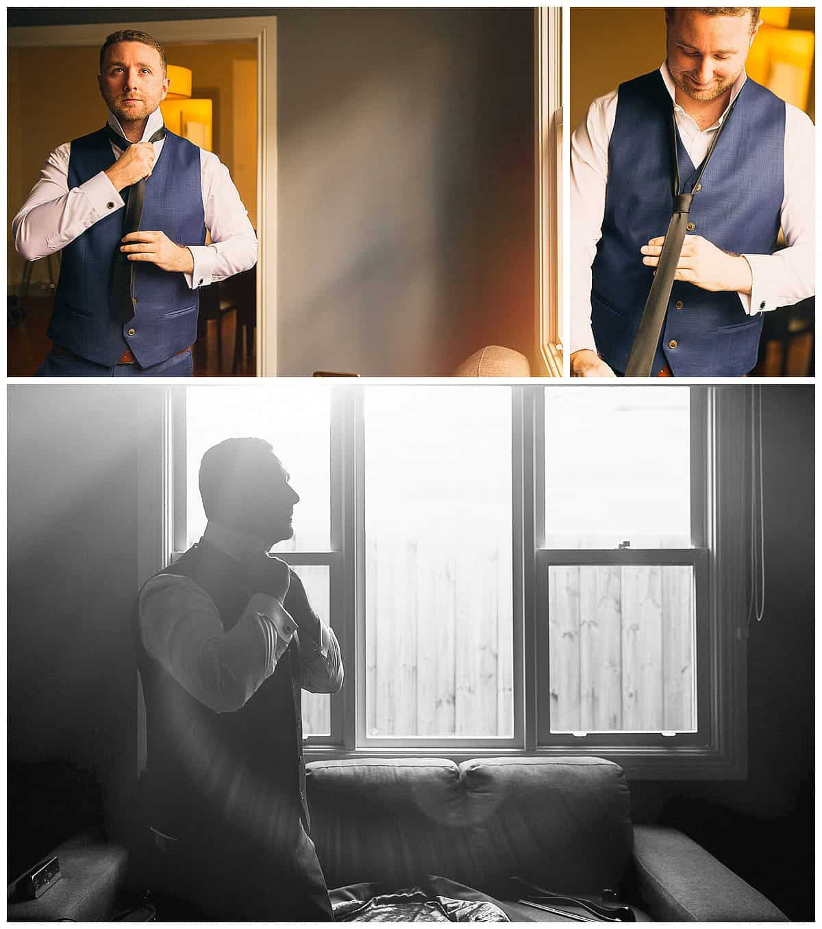Groom Davor Getting Ready - 3 Piece Suit, Melbourne City Wedding