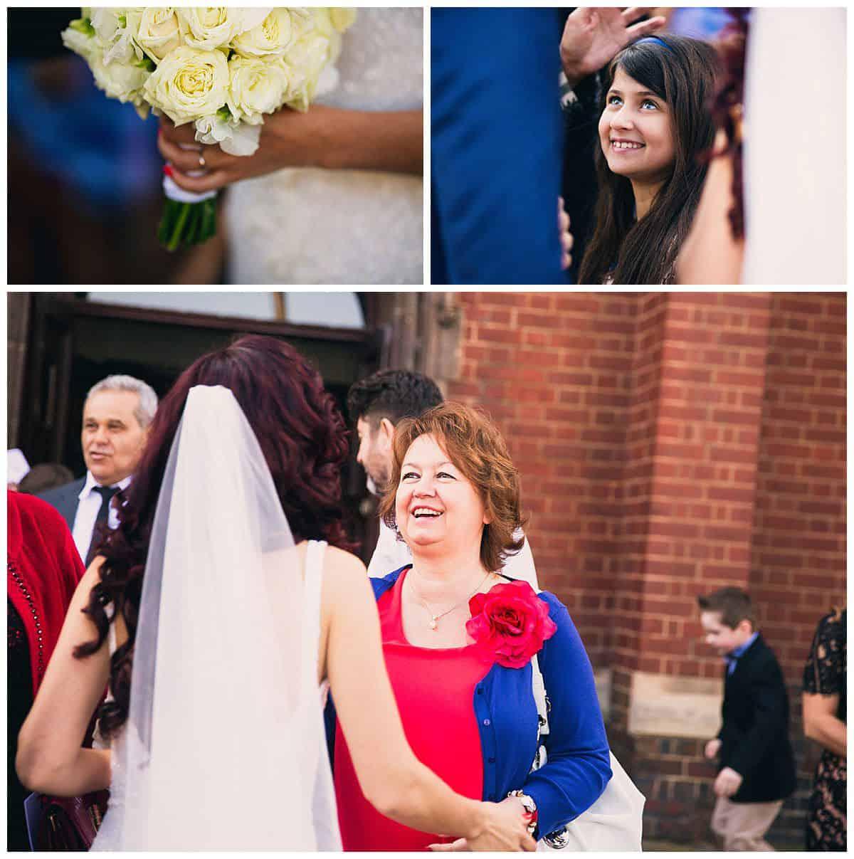 Congratulations from wedding guests at Kensington Church