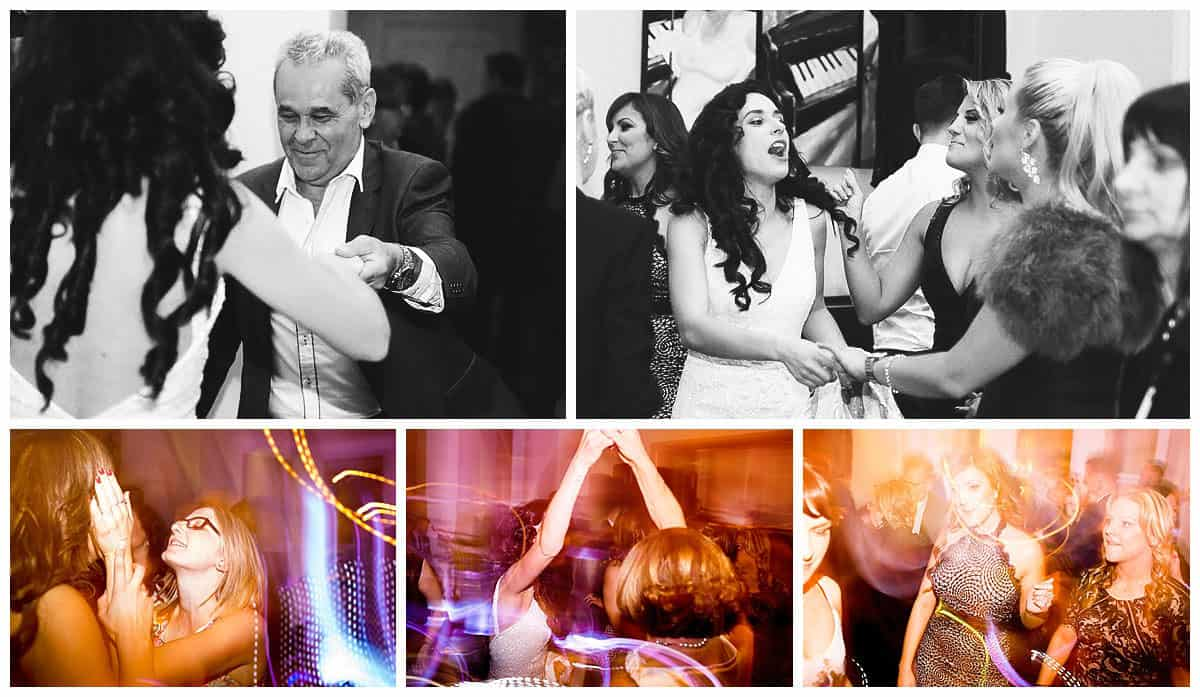 Wedding guests dancing to Baker Boys, The Willows Reception