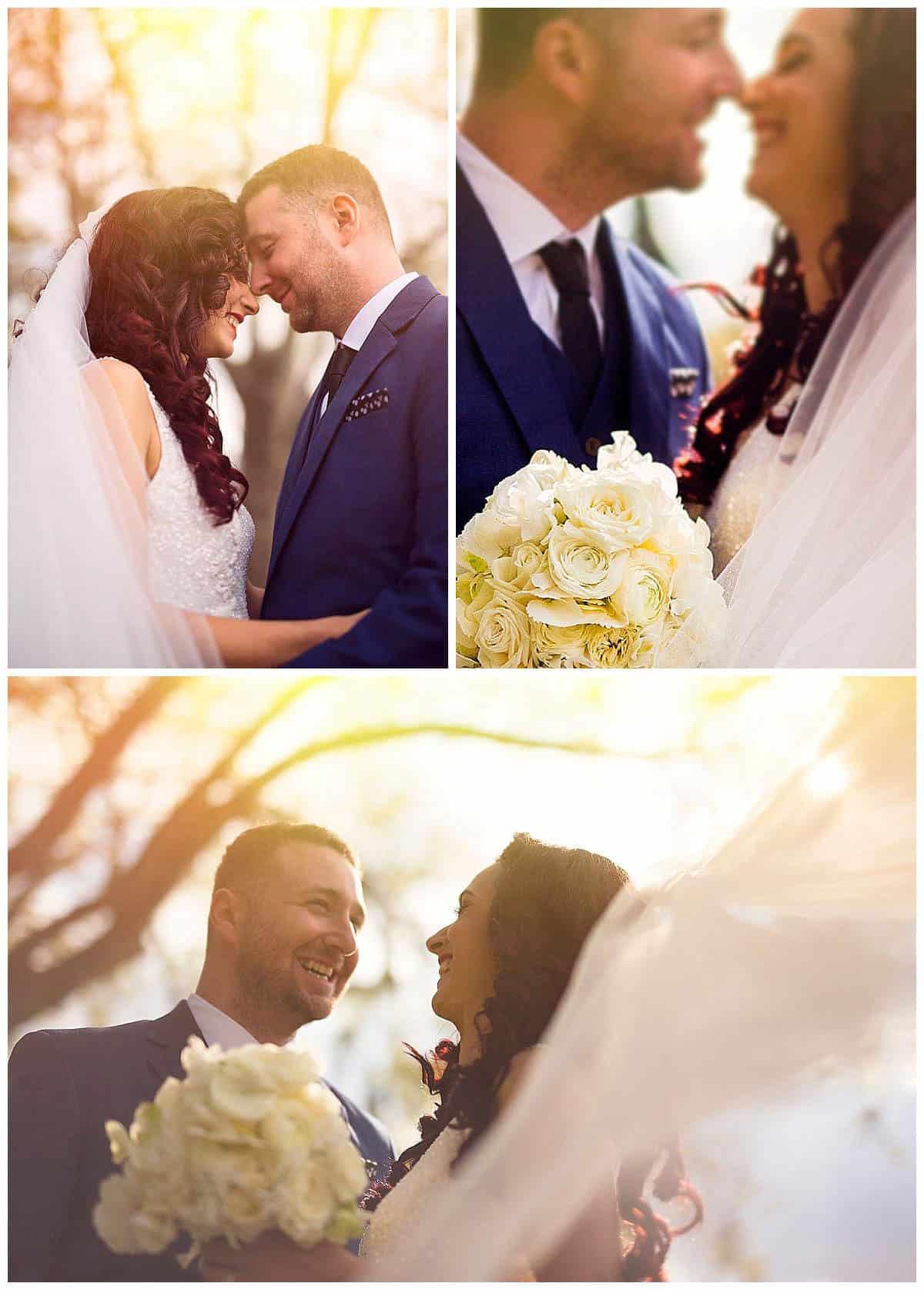 Romantic sunset of Natasa and Davor's Wedding Walk in Carlton Gardens