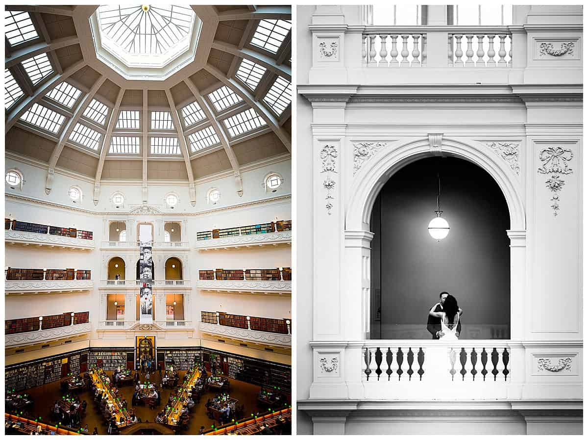 Amazing Architecture wedding photography at Melbourne State Library
