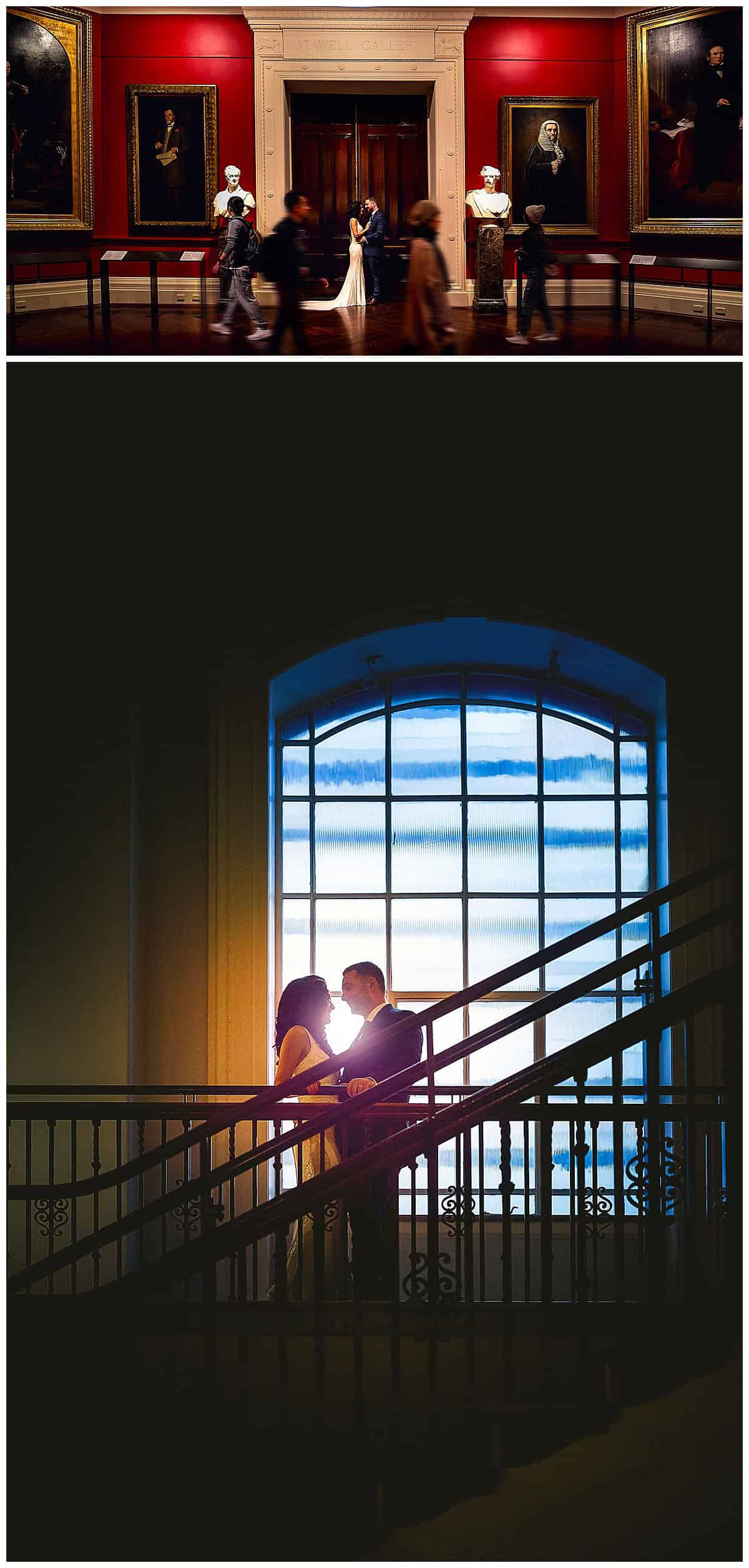 Wedding Photography of Natasa and Davor in Melbourne State Library's Art Gallery