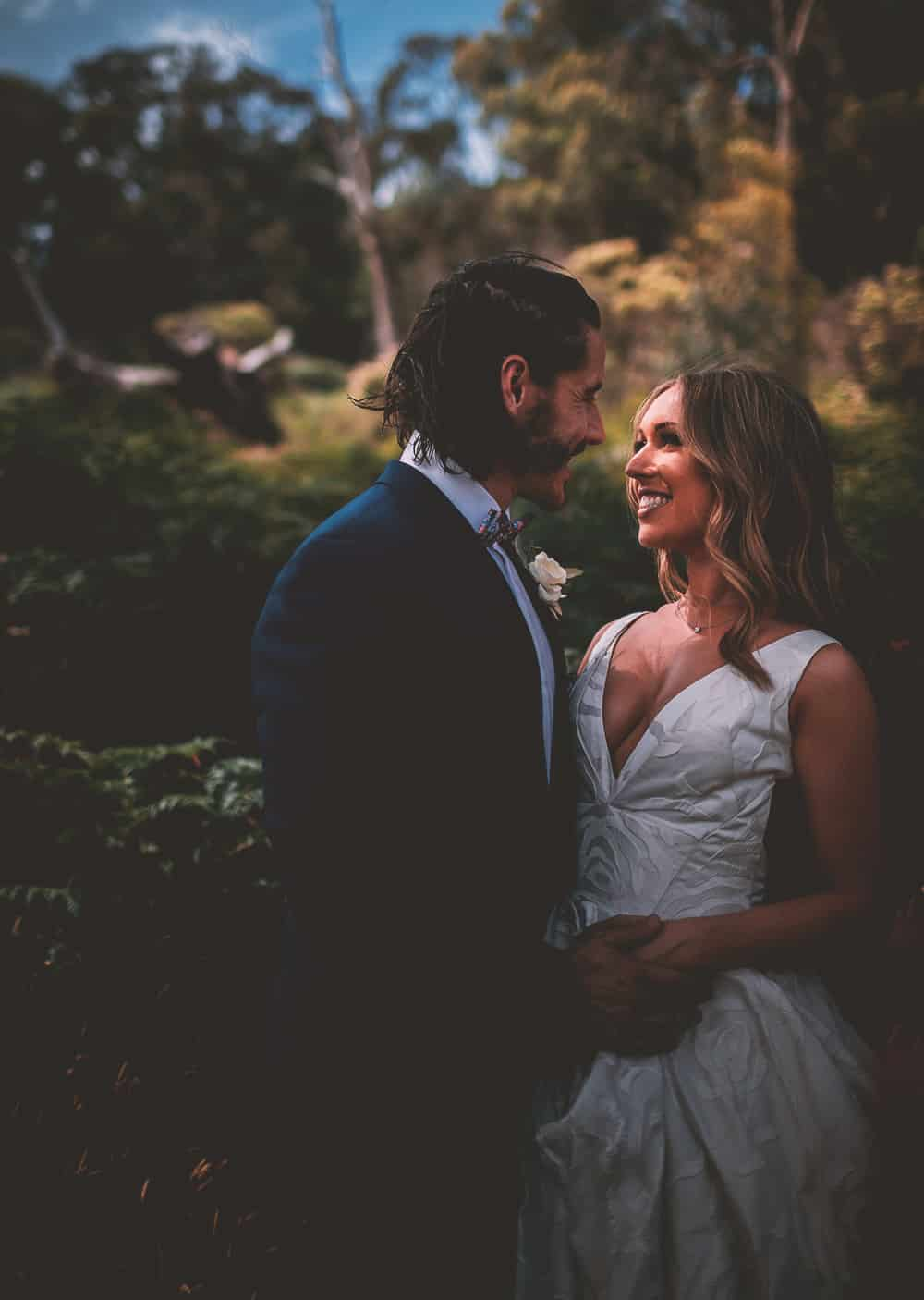 Dappled Light of Wedding Bride & Groom, Mansfield Victoria