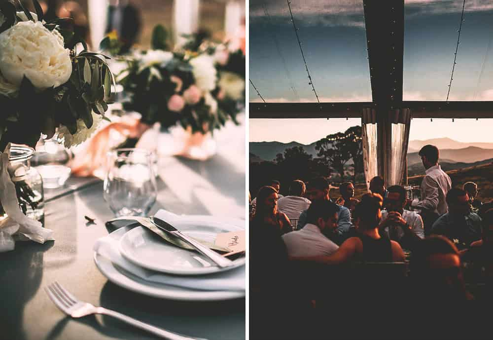 Mansfield Wedding Reception - Catering for Reception at sunset