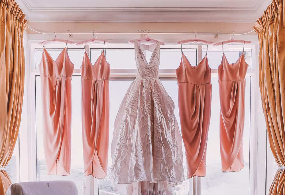 Bride and Bridesmaid dresses, Mansfield Victoria