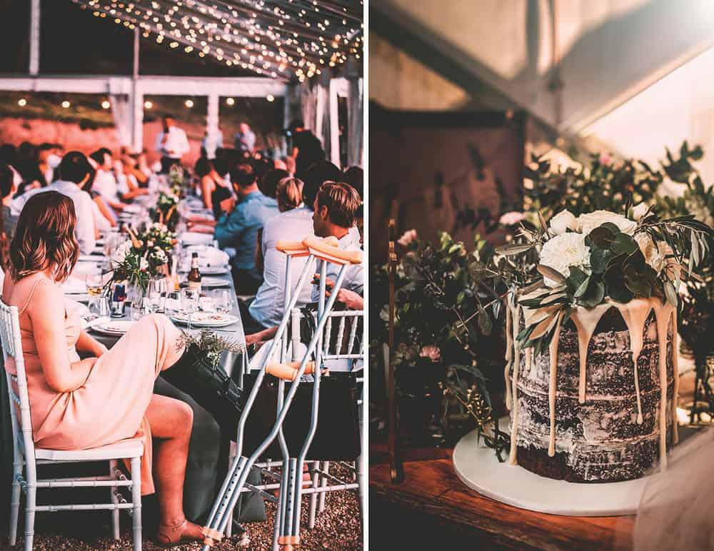 Rustic wedding cake - Mansfield Wedding, Victoria